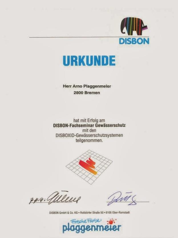 Gewässerschutz - Zertifikat