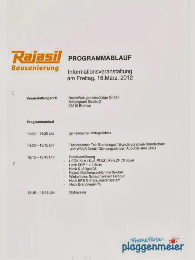 Seminar Rajasil - Ihr kompetenter Malereibetrieb in Bremen.