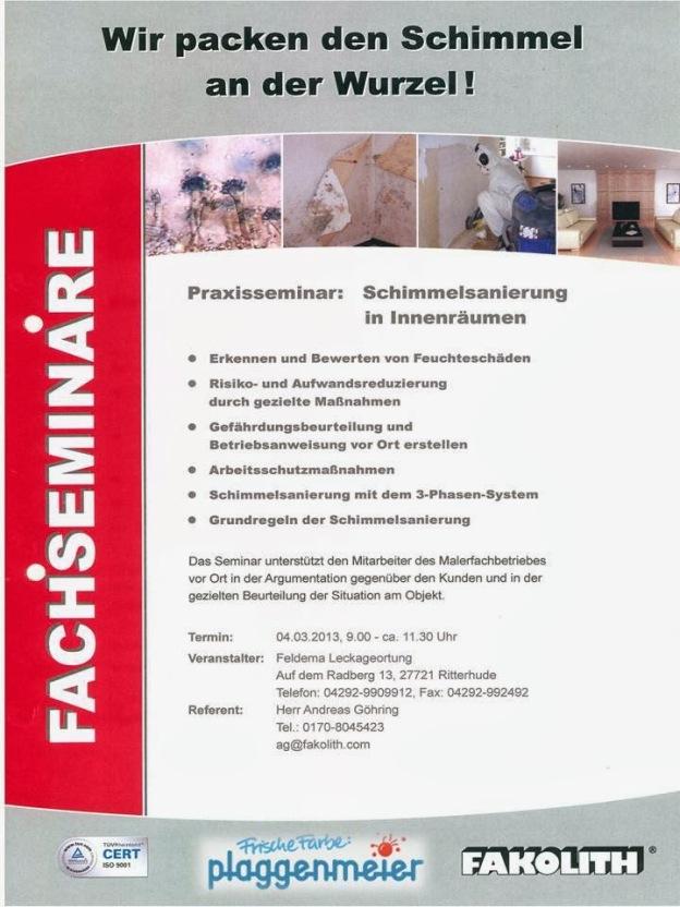 Seminar Schimmelbehandlung bei Bremens Profi Maler.