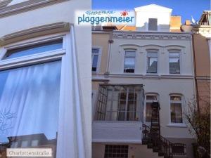Bei regelmäßiger Pflege der Fassade kein Problem: Verzierungen und Profile mit Gründerzeitcharme