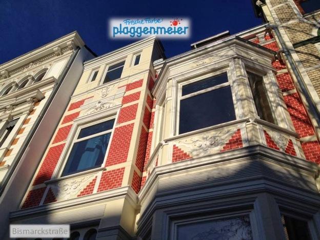 Eine Fassadengestaltung vom Fachmann in Bremen - Frische Farbe kommt von uns.