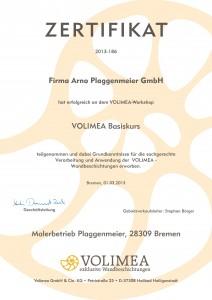 Volimea Schulung - Kreativputz wird bei uns groß geschrieben - Bremer Malereibetrieb