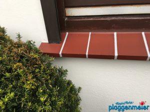 Die Fassade ist fertig, die Ziegeloptik ist gelungen - so lieben wir Projekte im Malermeisterbetrieb aus Bremen: Plaggenmeier