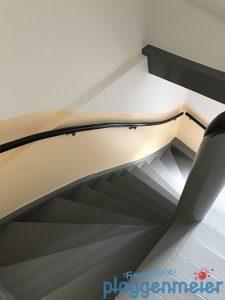 Schöner Ausblick nach der Renovierung eines Treppenhauses