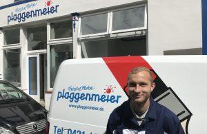 Meik freut sich auf das erste Ausbildungsjahr für Maler und Lackierer: er wusste genau, was für eine Ausbildung er machen wollte. Und für ihn kam in Bremen auch nur eine Firma in Frage...