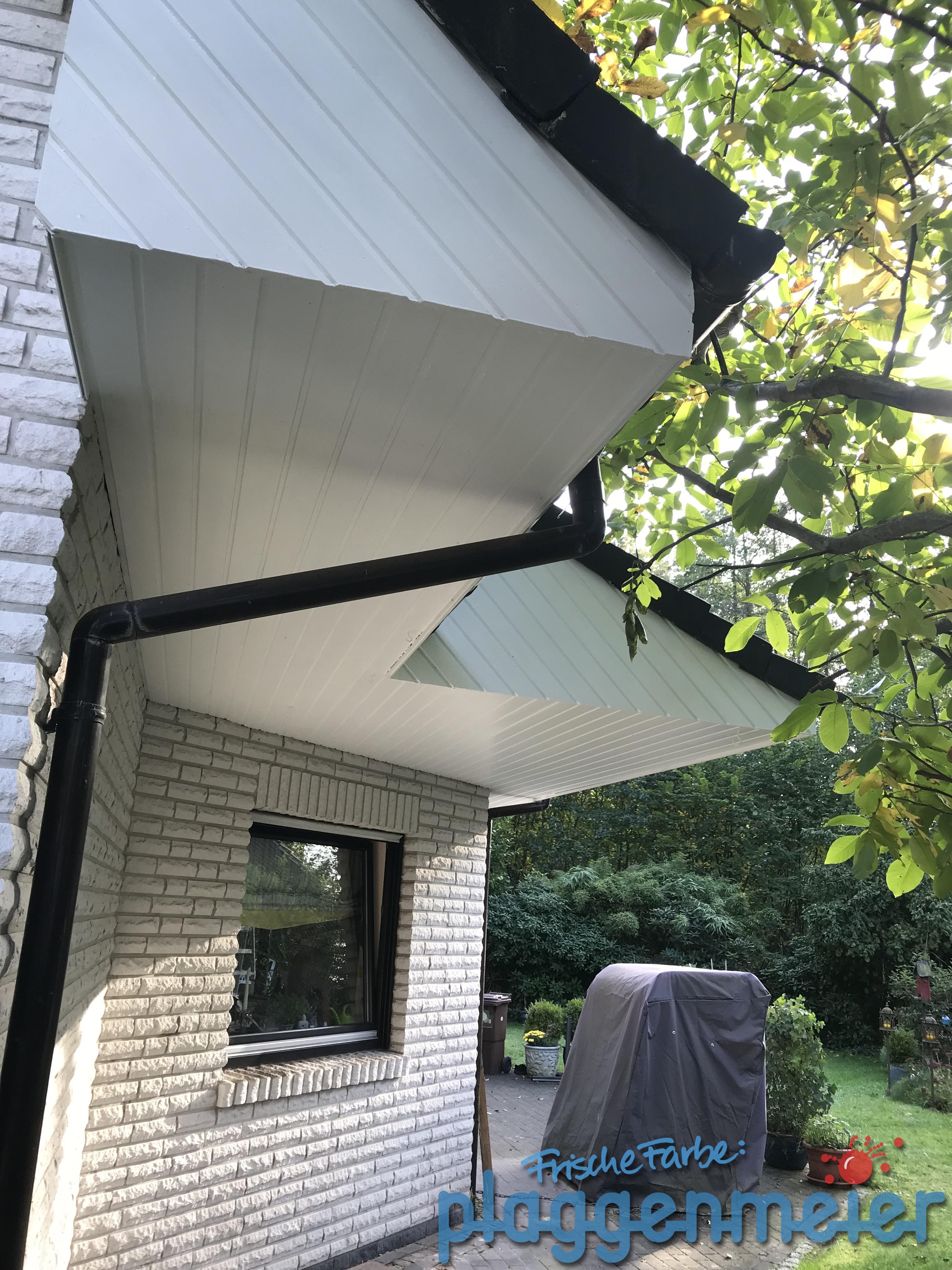 Wetterschutz am Dachüberstand fachmännisch: nicht einfach nur drüberwischen, sondern fachgerecht aufbereiten - Lieblingsmaler Plaggenmeier