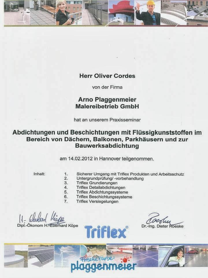 Triflex Zertifizierung