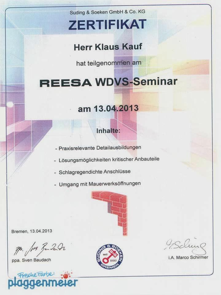 Seminar WDVS: Je dauerhafter ein WDVS ist, desto nachhaltiger ist es auch.