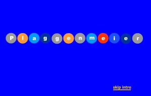 Maler im Internet: Die erste Arno Plaggenmeier GmbH Homepage - Klicken Sie für einen Schnipsel der Intro-Animation