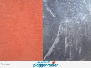 Zwei Innenvarianten für Dekorputze - quergeputzt und schlierenartig vom Malerprofi Arno Plaggenmeier GmbH