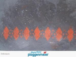Beispiel für einen Dekorputze mit eingebrachtem Muster Vintage Style vom Malereibetrieb Arno Plaggenmeier GmbH