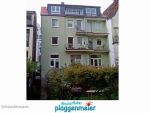 Wärmedämmung Rückfront - so kann sich ein Altbau sehen lassen! Sieger Fassadenwettbewerb. Malereibetrieb Plaggenmeier