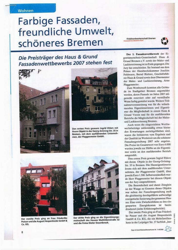 Die Mitgliederzeitschrift von Haus und Grund ist in Bremen bei Immobilienbesitzern sehr beliebt. Bericht über unseren Sieg beim Fassadenwettbewerb