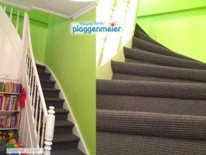 In einem farbenfrohen Raum betont ein dunkler Bodenbelag die edle Anmutung und bringt Ruhe in die Raumgestaltung