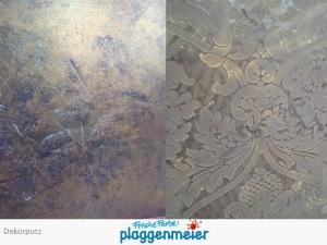 Dekorputze in zwei Varianten - Relief und Gold Innenputz-Spezialisten Arno Plaggenmeier GmbH