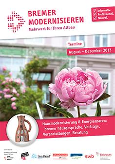 Programmheft des Bremer Bauraums - mit Vorträgen der Arno Plaggenmeier GmbH und anderen Sanierungsspezialisten