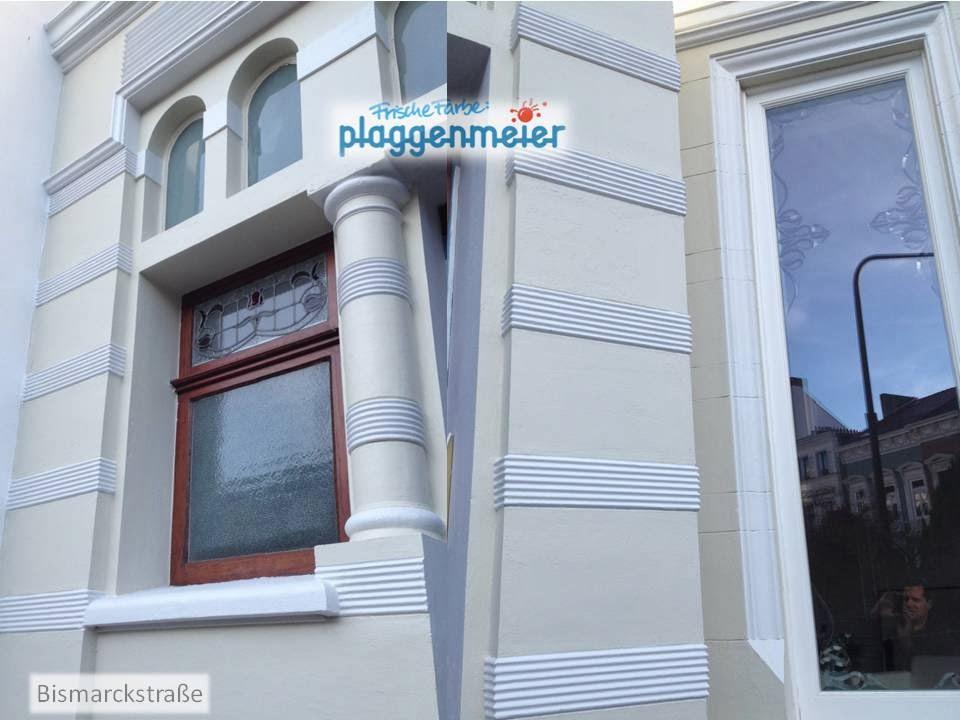 Detaillierte Verzierungen über die gesamte Fassade vom Profi rekonstruiert - Arno Plaggenmeier GmbH