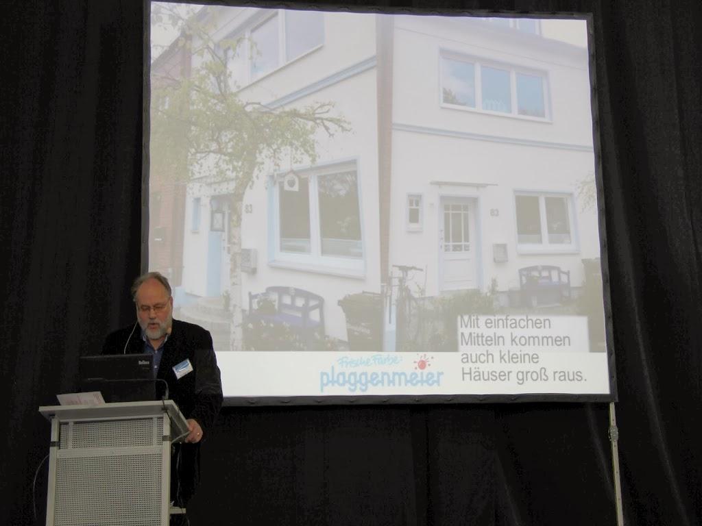 Zahlreiche Referenzen und Gestaltungsbeispiele auf Arno Plaggenmeiers Vortrag