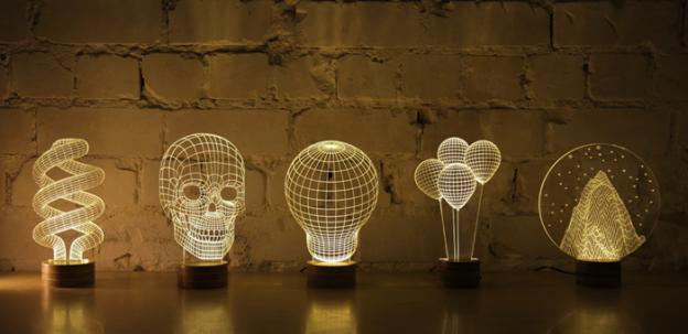 LED Licht, warm und frei im Raum platzierbar, 3D Optik inklusive