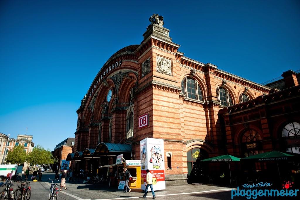 Wir imprägnieren - hier die Fassade des Hauptbahnhof Bremen