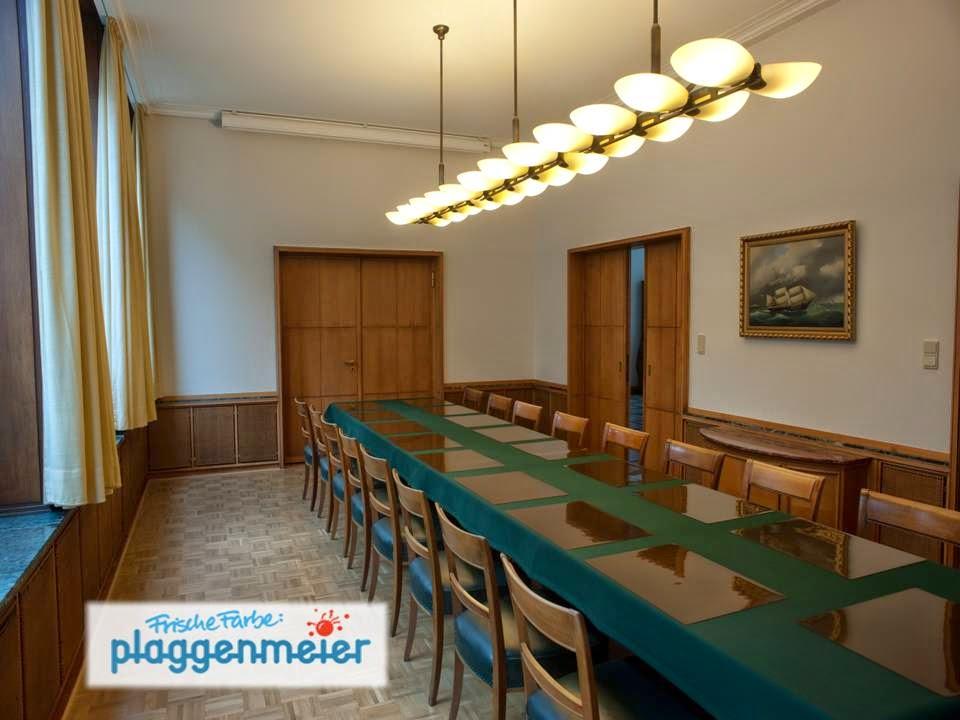 Referenz - Moderne Technik ist auch zu erkennen, sollte aber von den Malern möglichst kaschiert werden: Understatement in Bremen.