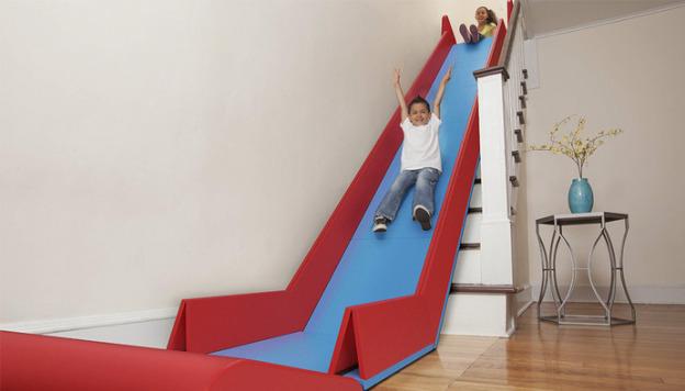 Treppenrutsche in Aktion