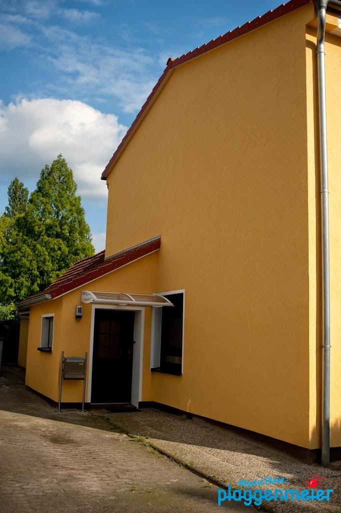Auch das Vordach natürlich wärmebrückenfrei - Wärmedämmverbundsystem vom Bremer Malermeister der Arno Plaggenmeier GmbH