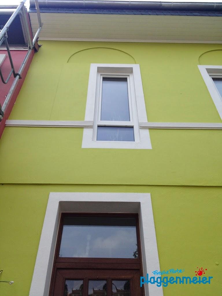 Maler und Lackierer verschönerten dieses Haus - nach Maßgabe der Eigentümer