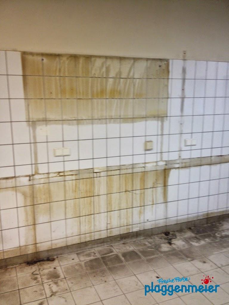 Hier wird eine Showküche entstehen. Die alte Sudhaus Küche musste raus.