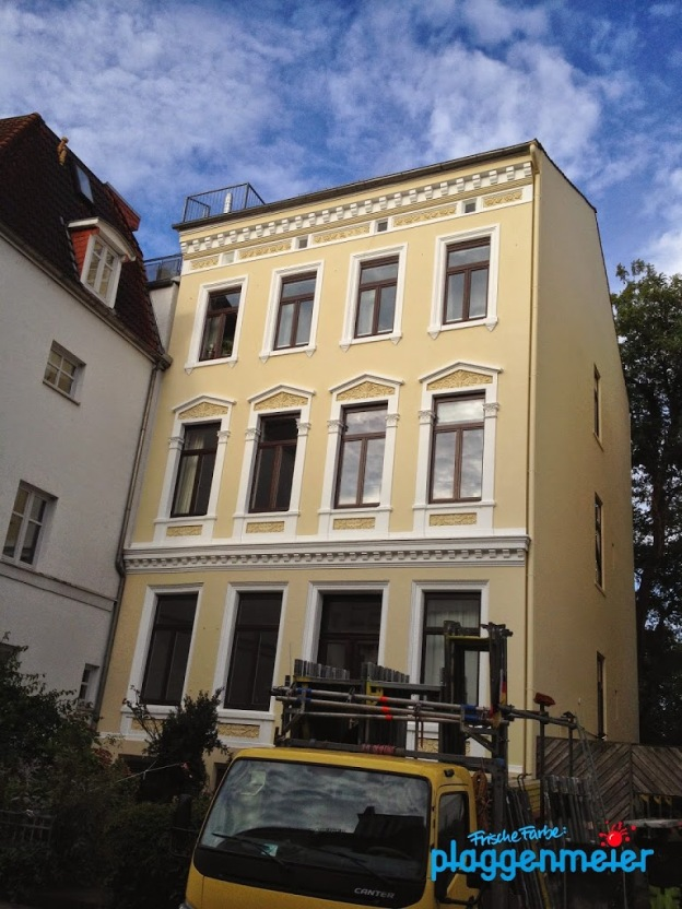 Fassadensanierung erfolgreich abgeschlossen. Bremer Meisterbetrieb.