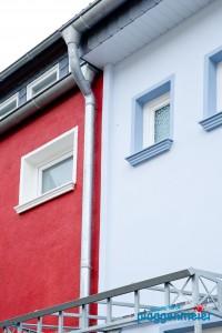 WDVS in Bremen am altbremer Reihenhaus - schräge Wände gut kaschiert - Profidämmer!