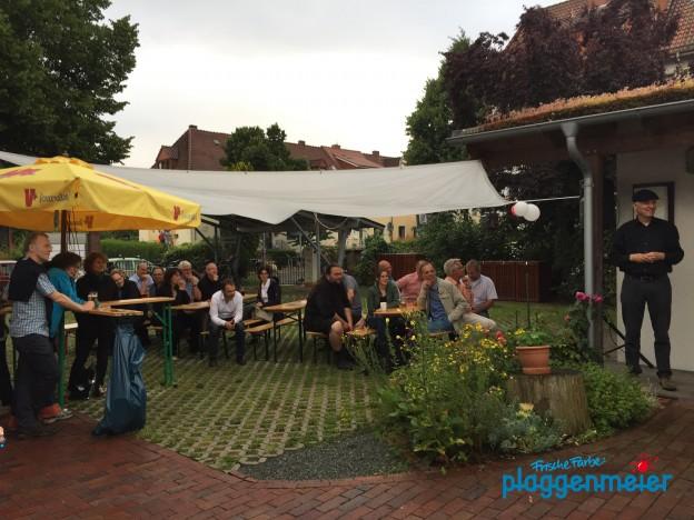 Der Bauraum feiert und Malerfachbetrieb Plaggenmeier aus Bremen feiert mit.