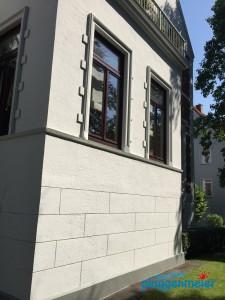 Unser Team macht´s: diese edle Schwachhausener Fassade ist für viele Jahre geschützt und wunderschön!