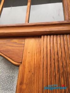 Wenn wir eine Haustür lasieren wählen wir gemeinsam mit Ihnen den Ton, Glanzgrad und Farbtiefe aus.