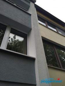 Dämmfassade im Vergleich zum ungedämmten Nachbarhaus