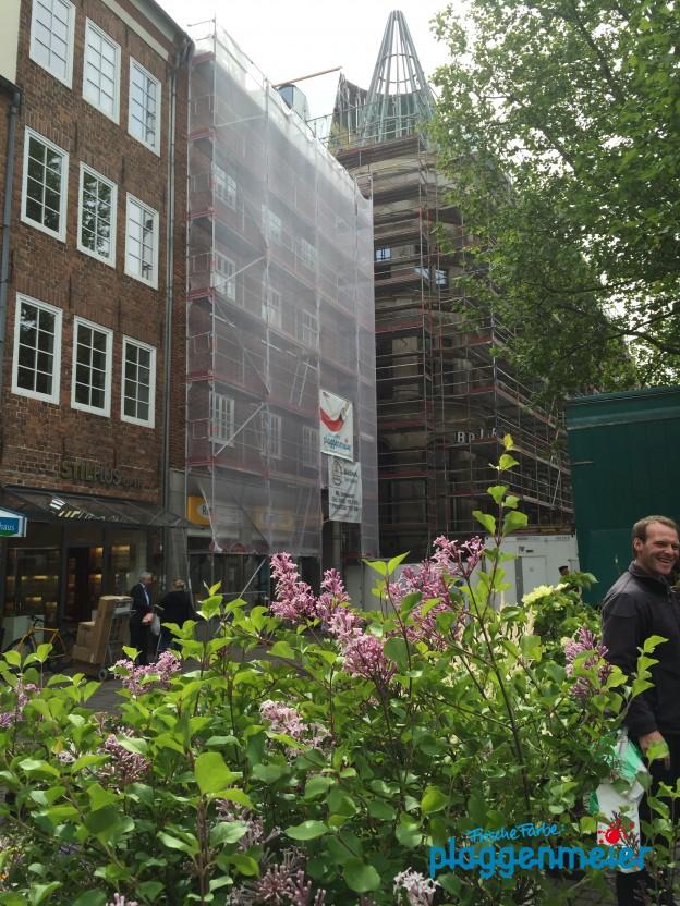 Fensteranstrich im Bremer Zentrum - von den Lackspezialisten Plaggenmeier