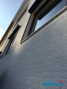 Im Schatten gibt die Fassadenstruktur ein anderes Bild ab. Maler Bremen