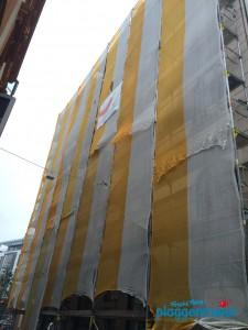 Enge Straßen, hohe Gebäude - wie soll der Maler da bloß seine Werbung platzieren? Probleme in Bremen...