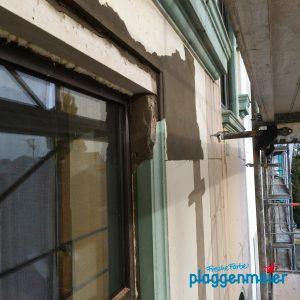 Schön aufgebaut: unser Maurer bei der Sanierung von Fensterstürzen - Der Bremer Maler!