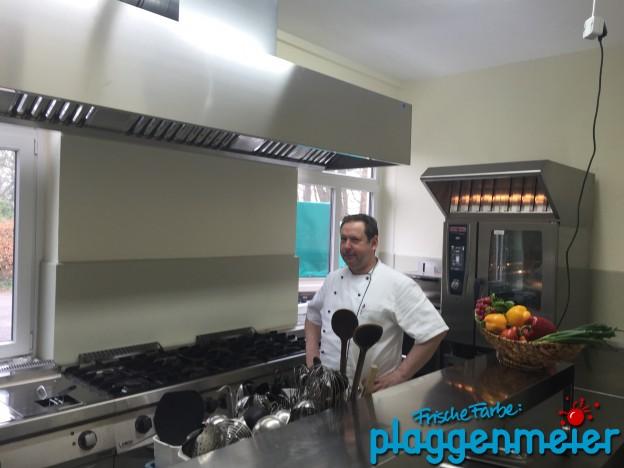 Wir haben eine Küchensanierung mit Fußbodenbeschichtung und Malerarbeiten für das Restaurant Martens durchgeführt - Malereibetrieb Bremen