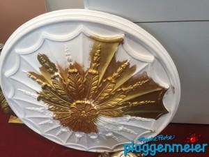 Vergoldungen werden auch wieder öfter gemacht - schön, dass diese alte Handwerkstechnik auch bei uns wieder eine Renaissance in Bremen erlebt beim Malereibetrieb Plaggenmeier