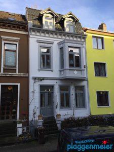 Wieder eine Fassade zu bestaunen - nach unserem Aussenanstrich in Dauerqualität - Ihr Maler aus Bremen sind wir!