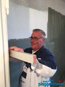Für Anputzarbeiten brauchen wir keine externe Firma - wir haben unseren eigenen Maurer - Malereibetrieb Plaggenmeier