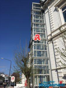 Auch der Fahrstuhlschacht benötigt Korrosionsschutz - Fassadenschutz in Bremen