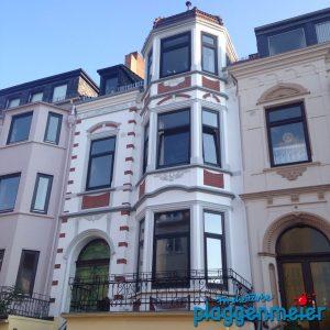 Diese Gründerzeit Fassade in Bremen wurde von uns 2016 saniert und neu gestaltet.
