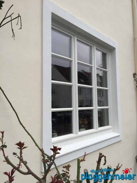 Bei diesem Hausanstrich wurden die Fenster farblich abgesetzt. Die Arbeiten wurden pedantisch und Exakt ausgeführt.