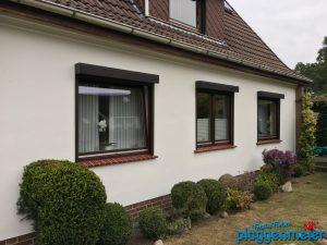 Fassadengestaltung mit Fensterbänken in Ziegeloptik - von den Bremer Malermeistern