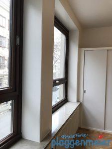 Gute Gelegenheit: beim Büroumbau wurden die Fenster gleich mitlackiert!