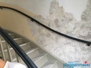 So fängt´s an: Renovierung eines Treppenhauses in Bremen Walle
