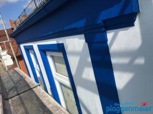 Auch in den oberen Etagen arbeitet unser Team absolut exakt. Corporate Identity Fassaden in Bremen von uns...